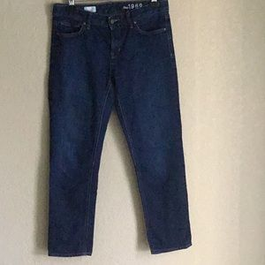 Gap 1969 dark wash jeans Real Straight 30S
